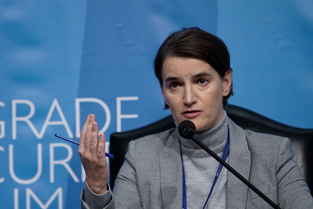 Serbian prime minister Ana Brnabić. Credit: Belgrade Security Forum/Flickr