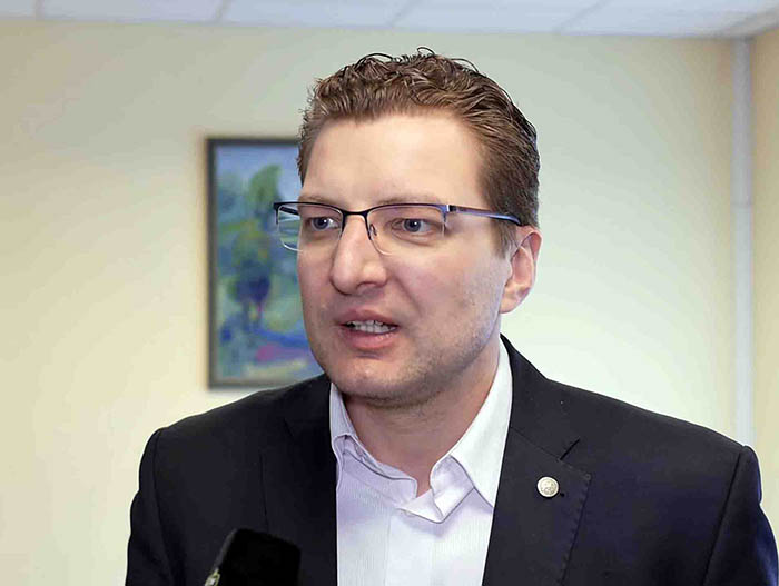 Dainius Radzevicius, chairman of Lithuania's Journalists Union. Credit: alkas.lt)